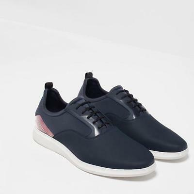 BNWT ZARA MAN BLUE SNEAKERS WITH TRANSPARENT DETAIL  REF.2351/102