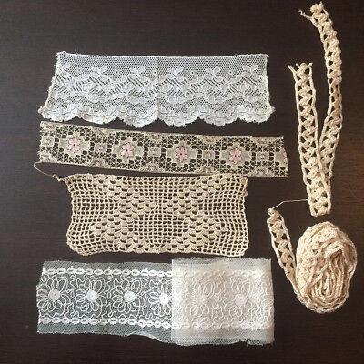 couture Ancien ruban brodé plumetis mercerie