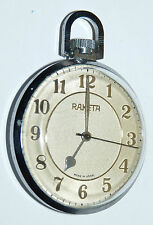 RAKETA MEN'S POCKET WATCH USSR NAUTICAL SPANISH SAIL GUN SHIP b10