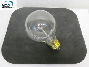 HASKEL-60W-CLEAR-GLOBE-BULB-3-034-LIGHT-LAMP-130V-3000HRS-ROUND-G-25-NEW