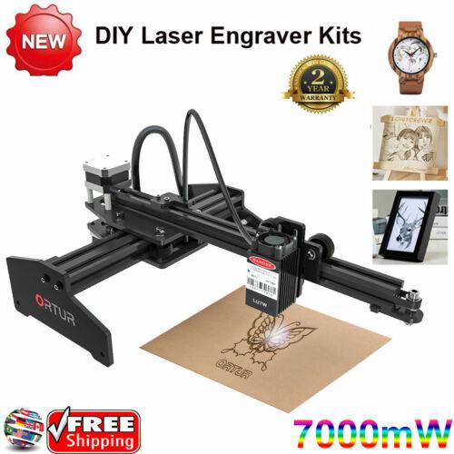 7000mW Desktop DIY Marking Laser Engraver Printer Cutting Engraving Machine USB