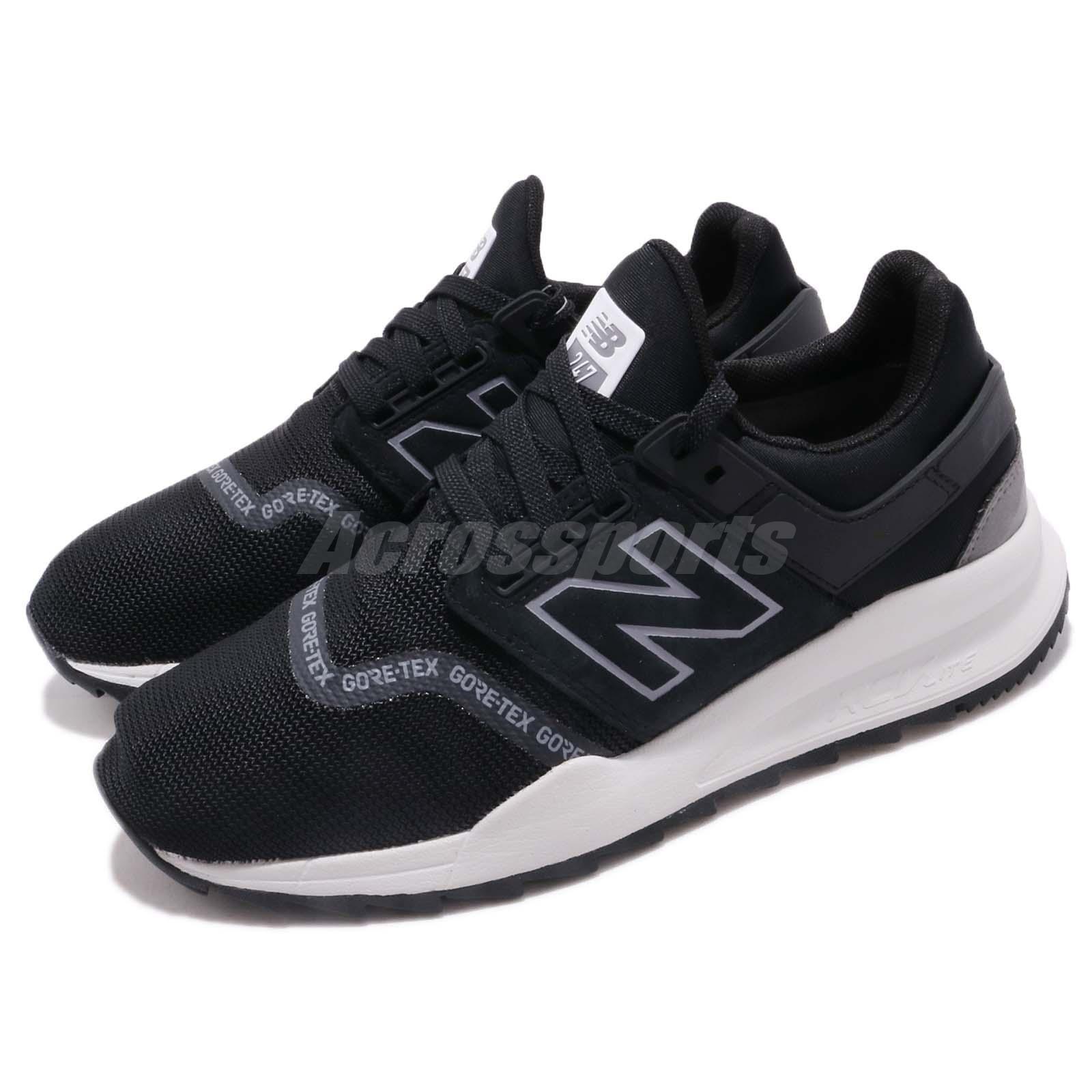 New Balance MS247GTX D Gore-Tex Noir Gris Men Running Chaussures Baskets MS247GTXD