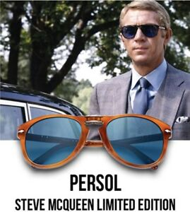 6cb7025aec5ea Image is loading New-PERSOL-Steve-McQueen-714SM-Polarized-Folding-Sunglass-