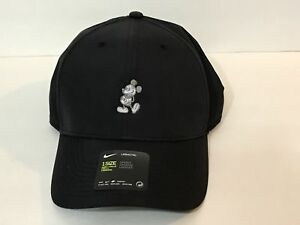 Disney Parks Icon Mickey Mouse Nike Black Baseball Cap Hat Unisex ... 51afded2eff