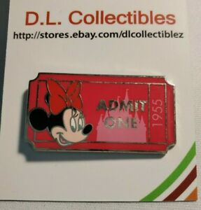 Disney-Minnie-Mouse-Admission-stub-ticket-admit-one-pwp-Minnie-Mouse-Pin
