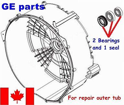 FRONT LOAD WASHER,2 TUB BEARINGS AND SEAL GE , GENERAL ELECTRIC | eBay | Ge Washing Machine Gcvh6800j1ms Wiring Diagram |  | eBay
