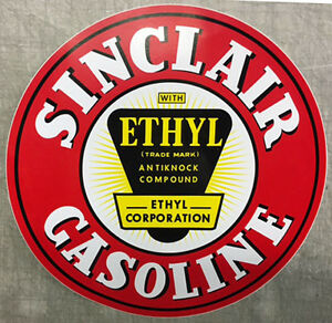 "12/"" SINCLAIR AVIATION GASOLINE DECAL GAS AND OIL GAS PUMP STICKER SINC-5"