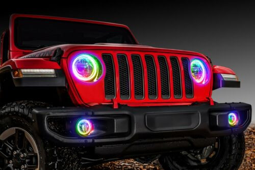 ORACLE Surface Mount Halos for Headlights Fog Lights for 18-19 Jeep Wrangler JL