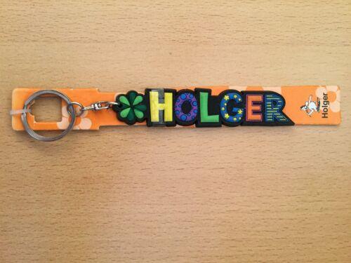 """/"""" HOLGER /"""" Fun Schlüsselanhänger von Albatros mit Namen bunt witizig"""