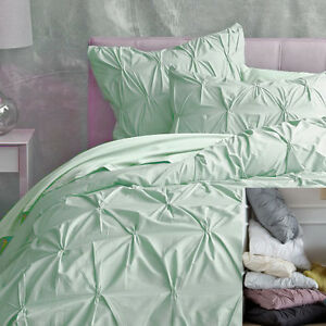 Image Is Loading Pintuck Duvet Cover Egyptian Cotton Sa Choose Color
