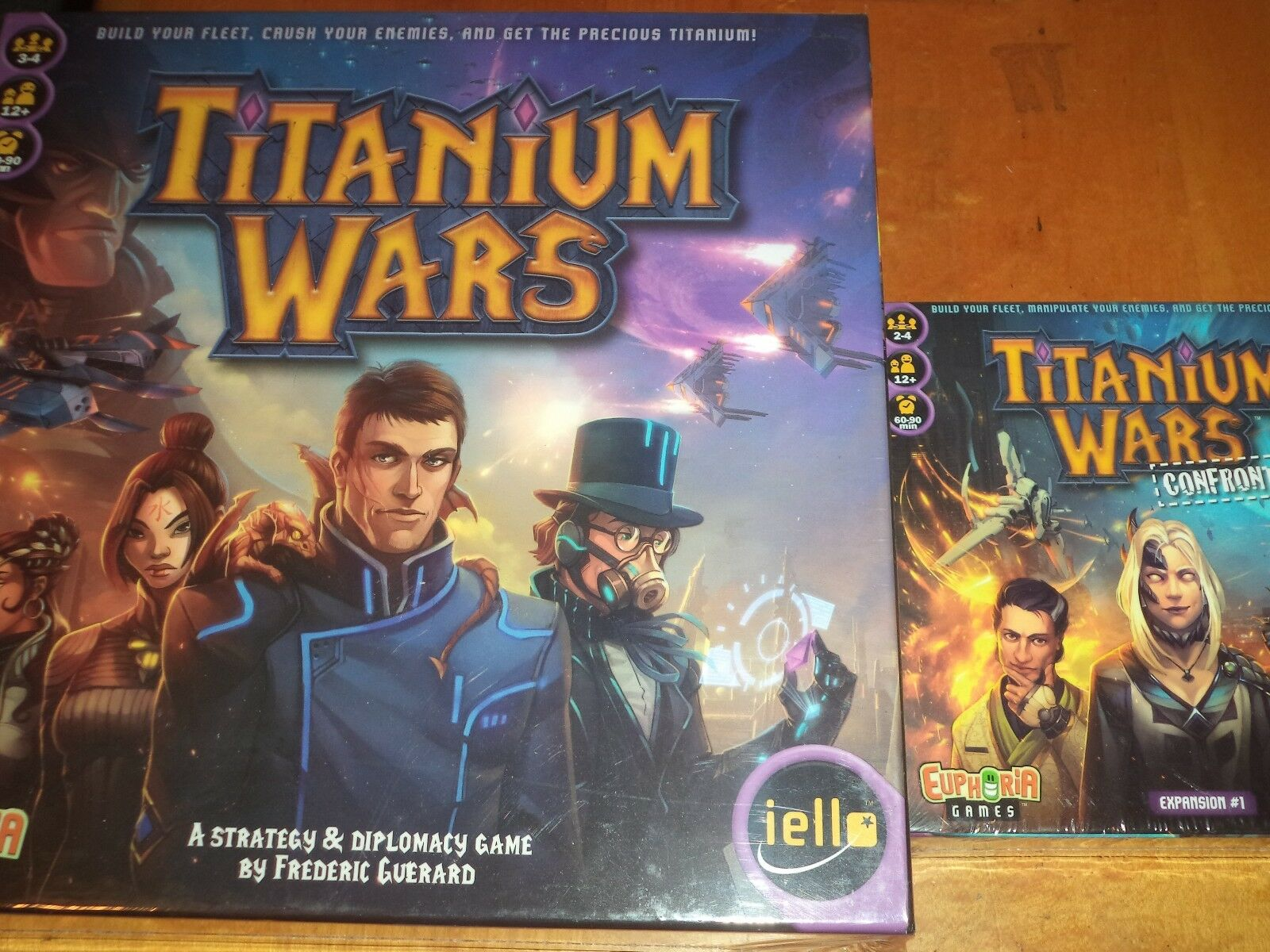 Titanium Wars with Confrontation Expansion Iello Both Games Board Game New