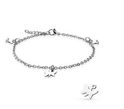 4mm Stainless Steel Bracelet Or Ankle Chain Anklet Heart Lock /& Key Charm