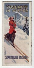 1910 Southern Pacific Railroad Yosemite In Winter Brochure