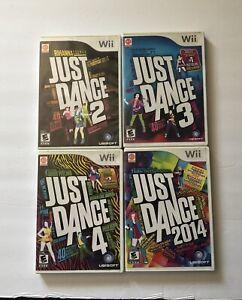 Lot-Of-4-Nintendo-Wii-Games-Just-Dance-2-3-4-2014-COMPLETE-Ubisoft