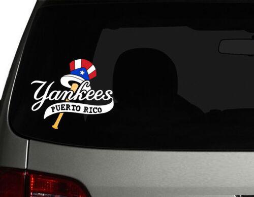 "Boricua Flag New York Yankees No.2 w Puerto Rico Vinyl Car Decal Sticker  6.5/"""