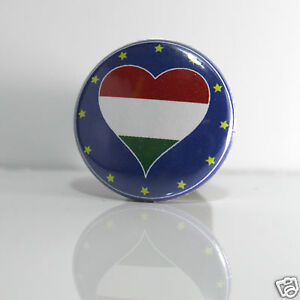 Avoir Un Esprit De Recherche 2 Badges Europe [25mm] Pin Back Button Epingle Magyarország Emballage Fort