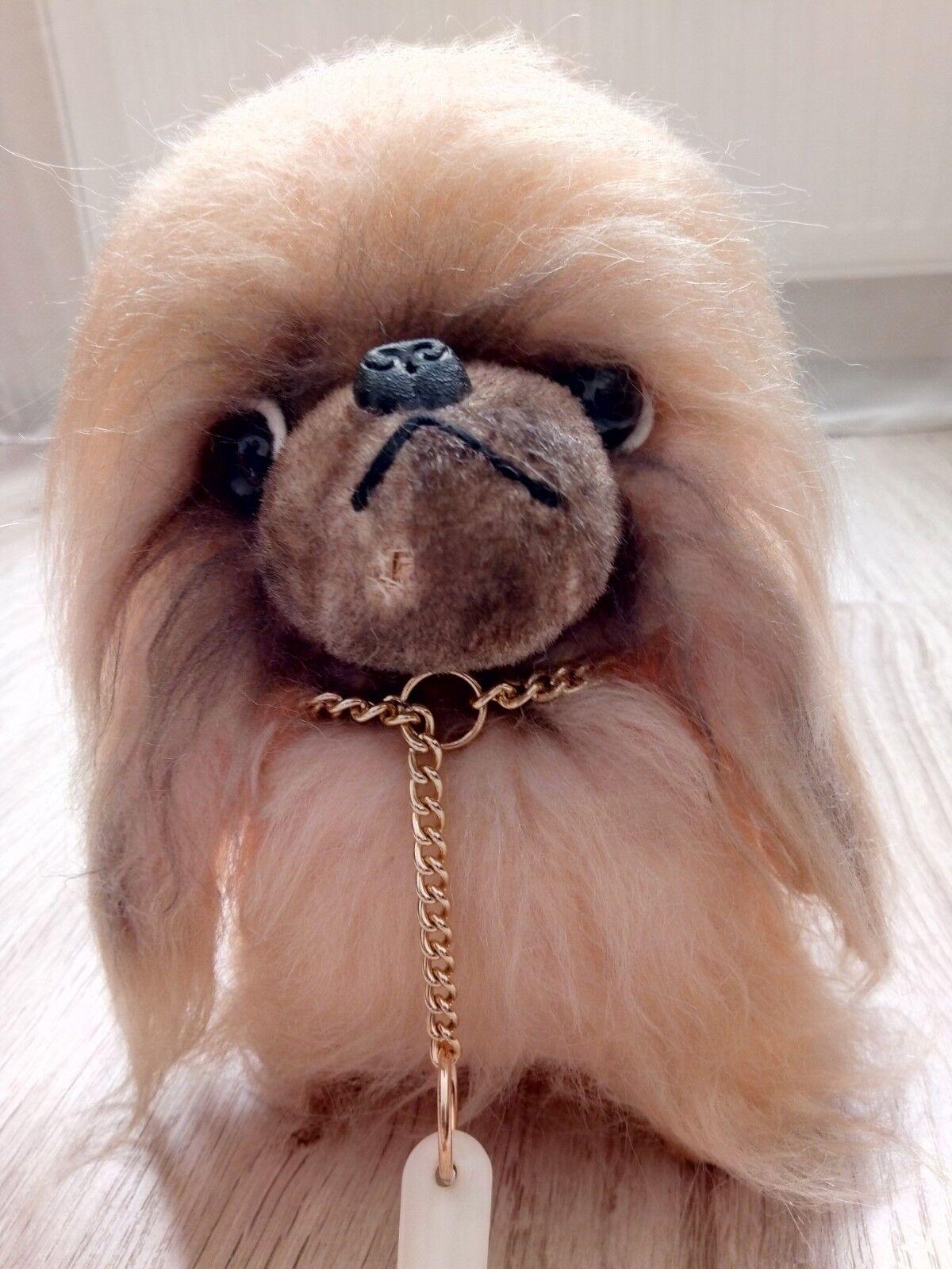Cute Vintage Jestia N.451 Stuffed Toy Doll - Dog Made In Japan Straw Filling