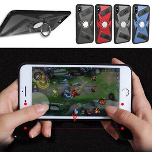 Antichoc-de-Protection-Arriere-Dur-Manette-Support-Telephone-Etui-Housse-Pour-iPhone-X-8-7