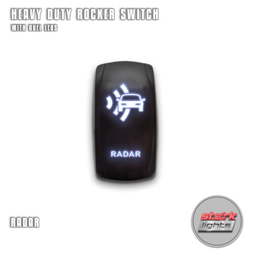 OFF RADAR Laser Etched 5 Pin Backlit LED Rocker Switch Dual Light 20A 12V ON