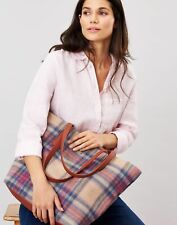 Joules Fernwell Tweed Shopper - MULTI PINK CHECK in One Size