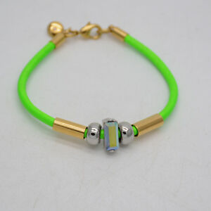 j-crew-signed-jewelry-green-bracelet-gold-plated-lobster-bangle-for-women