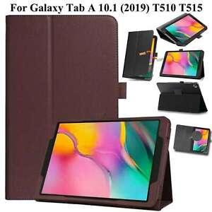 Etui Cuir Pour Galaxy Tab A 10.1 2019 SM-T510 T515 Magnétique Support Smart Étui