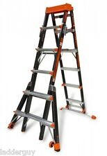 Little Giant Fiberglass Select Step Ladder 375lb Rated 6 10 Withairdeck 15131