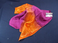 Hand Painted Silk Scarf Shades Of Orange & Purple