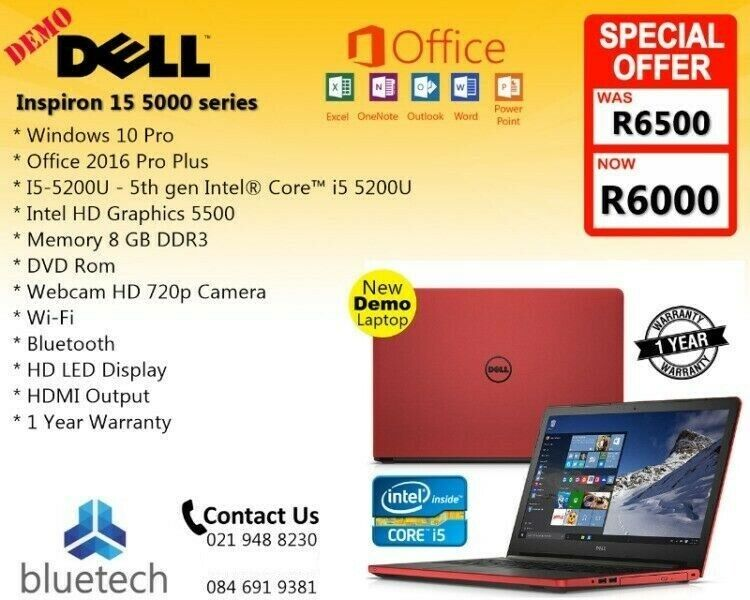 Red Dell Inspiron 15 5000 series, Core i5, 1TB HHD, 1 Year Warranty,  Bluetech 0219488230 | Bellville | Gumtree Classifieds South Africa |  296923902