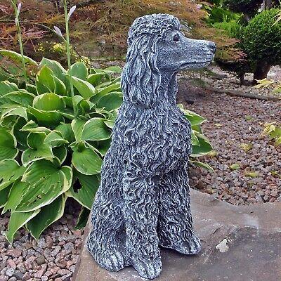 Steinfigur Hund Pudel