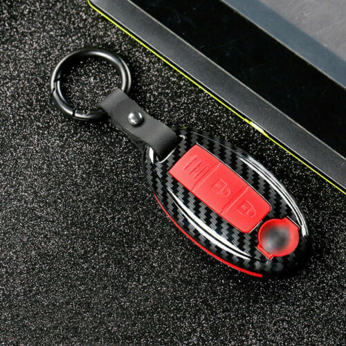 ABS Carbon Keychains Car Key Fob Cover Case Fit For Nissan Infiniti Accessories