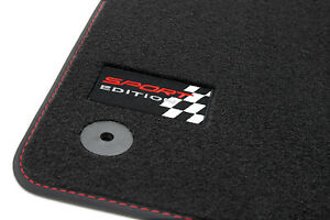 Sport-Edition-Floor-Mats-seat-Leon-2-1P-5-Turer-Fr-Cupra-Style-Year-2005-2012