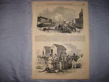 ANTIQUE 1855 OSTEND BELGIUM PRINT BASIN OF COMMERCE MARITIME WEST FLANDERS NR