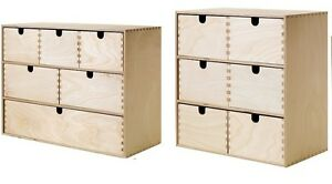 ikea moppe mini wooden chest of 6 drawers multi use storage boxes jewellery box ebay. Black Bedroom Furniture Sets. Home Design Ideas