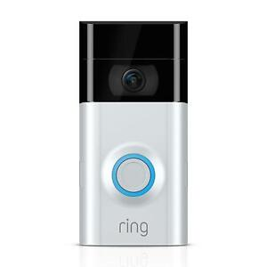 Ring Video Doorbell 2 - Satin Nickel 2nd Generation - Quick Release Battery