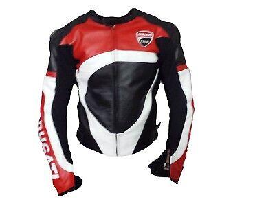 Men/'s Motorbike Leather jacket Ducati Replica jacket for Motorcycle ride
