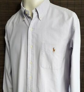 Ralph-Lauren-Camisa-Para-Hombres-Gris-Claro-Lila-XL-2XL