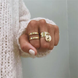 2Pcs-Set-Gold-Midi-Finger-Ring-Set-Vintage-Punk-Boho-Knuckle-Rings-Jewelry-NEW
