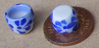 1:12 Scala 2 Blue & White Rotonda Ciotole Casa Delle Bambole Miniatura Accessorio Da Cucina B6-mostra Il Titolo Originale Prodotti Di Qualità In Base Alla Qualità