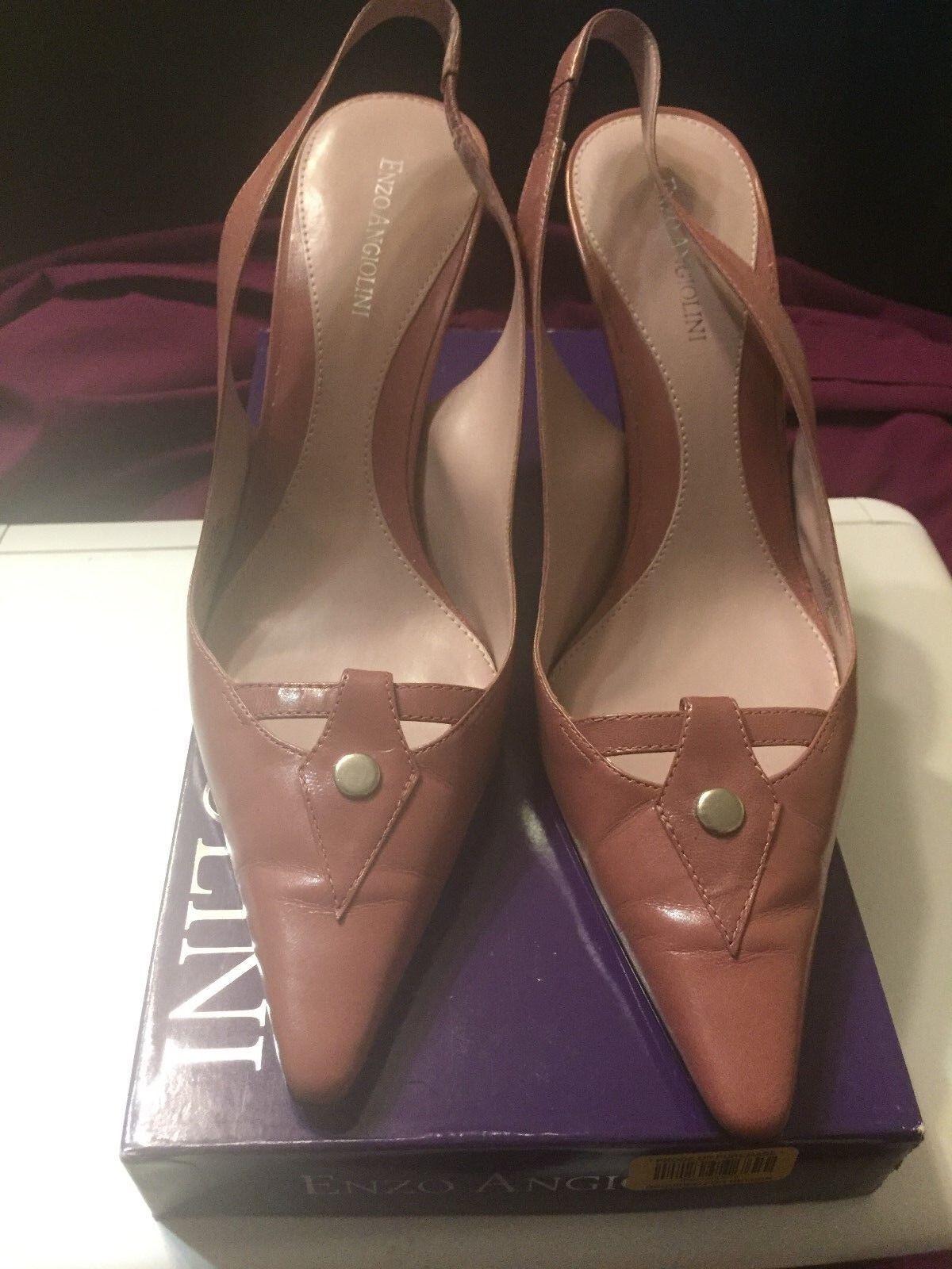 Enzo Angiolini Women's Sling Back Back Back High Heel Stilettos Size 8.5M Pink d06dca