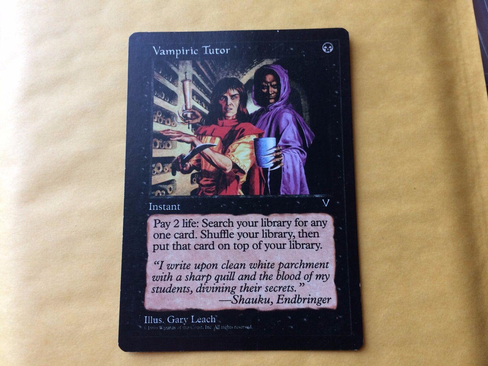 Druckfehler dunkle visionen vampirischen tutor fehler mtg magische karte   2