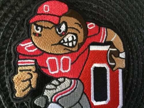 """OSU Ohio State Buckeyes Vintage BRUTUS Embroidered Iron On Patch 4.5"""" X 3"""""""