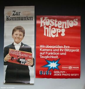 Plakate KODAK + OSRAM PHILIPS vermutlich um 1970 !?