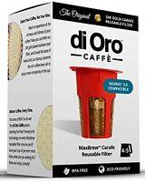 Maxbrew 24k Gold Reusable K-carafe Filter For Keurig 2.0 - K-cup Reusable 4-5 Cu on sale