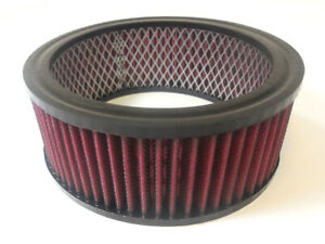 6-3-8-034-Round-Washable-Element-Air-Filter-Pre-Oiled-Red-2-1-2-034-Tall