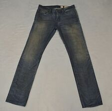 B0 Auth ALL SAINTS SPITALFIELDS JACKS PLACE Blue Straight Slim Leg Jeans Sz 30