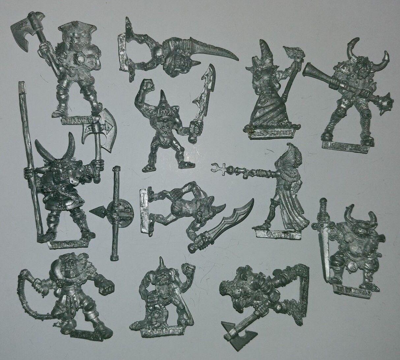 Huge Multi-listing Warhammer Classic Chaos Champions metal models RARE OOP