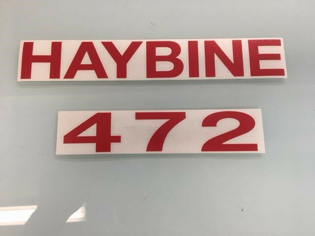 Farm implement parts new holland 472 haybine decal fandeluxe Choice Image