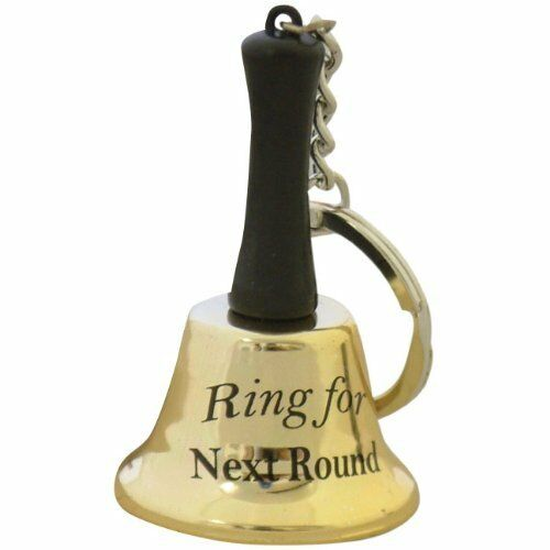 Ring for Gin, Tea, Coffee, Prosecco, Beer, Hug, Kiss etc Mini Keychain Bell