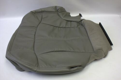 99-02 Chevy Tahoe Driver Bottom synthetic Leather replacement Seat Cover Gray